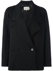 L'autre Chose Double Breasted Blazer Black