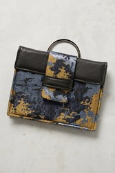 Anthropologie Abbue Cool Toned Clutch Black
