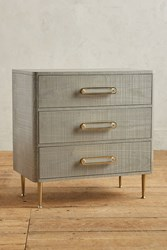 Anthropologie Odetta Three Drawer Dresser Light Grey