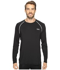 Tyr Long Sleeve Rashguard Black Men's Swimwear