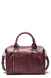Sole Society Zypa Faux Leather Barrel Satchel Red Oxblood