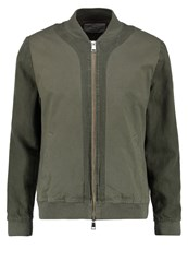 Folk Slouch Bomber Jacket Soft Military Green Oliv