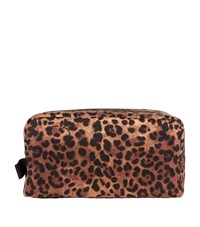Dolce And Gabbana Leopard Print Cosmetics Case Large Female Brown