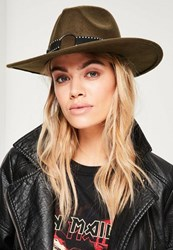 Missguided Khaki Studded Band Fedora