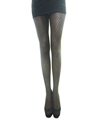 Zac Posen Metallic Yarn Fashion Tights Black