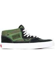 Gosha Rubchinskiy Panelled Hi Top Sneakers Green