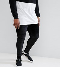 Sixth June Skinny Joggers In Black Velour With Zip Ankle Exclusive To Asos
