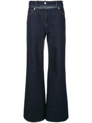 Valentino Flared Jeans Cotton Polyester Blue