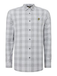 Lyle And Scott Men's Long Sleeve Block Check Shirt Grey