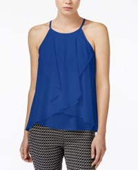 Bar Iii Sleeveless Draped Top Only At Macy's Lazulite