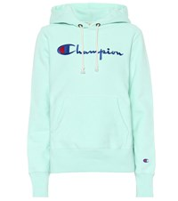 Champion Logo Cotton Hoodie Green