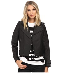 Marc By Marc Jacobs Matte Biker Leather Jacket Black Women's Coat