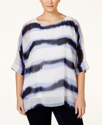 Alfani Plus Size Tye Dyed Oversize Top Only At Macy's Dyed Stripe