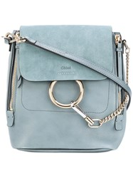 Chloe Faye Backpack Women Calf Leather One Size Blue