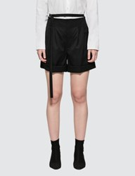 Helmut Lang High Waist Wool Shorts