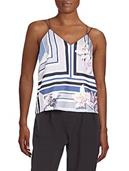 Style Stalker Printed Crossback Tank Top Orchid Shadow
