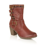 Lotus Hedera Ankle Boots Red