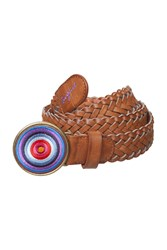 Desigual Trenzado Belt Brown
