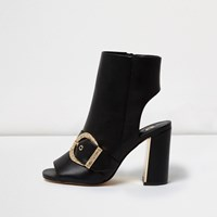 River Island Womens Black Western Style Shoe Boots