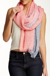 Cara Accessories Paisley Stripe Scarf Red