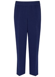 Tory Burch Addison Navy Cropped Trousers