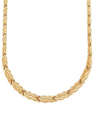Lord And Taylor 14K Yellow Gold Vine Leaf Necklace