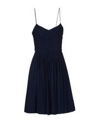 Alberto Biani Short Dresses Dark Blue