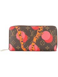 Louis Vuitton Vintage Zippy Ramages Wallet Brown