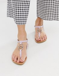 New Look Ring Detail Strappy Sandal In Lilac Purple