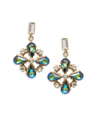 Gerard Yosca Cluster Drop Earrings Multi