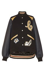 Coach 1941 Metallic Insert Oversized Varsity Jacket Navy