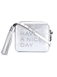 Anya Hindmarch Have A Nice Day Leather Bag Metallic