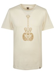 Pretty Green Men's Paisley Guitar T Shirt Stone