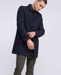 Aspesi Raincoat Lemon Navy Blue