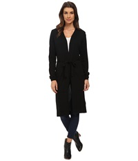 Mavi Jeans Long Cardigan Black Women's Sweater