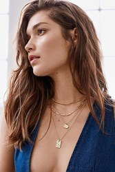 Urban Outfitters Billie Hammered Tag Necklace Gold