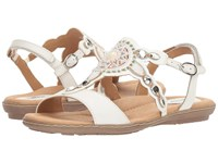 Earth Sunbeam White Soft Leather Women's Shoes