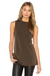 Bcbgeneration Twist Back Tank Brown