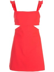 Likely Cutout Detail Mini Dress Red