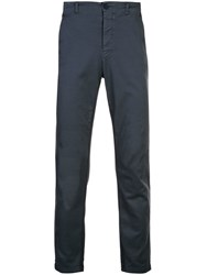 Transit Slim Fit Chino Trousers Blue