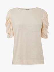 Lk Bennett L.K.Bennett Gather Sleeve Linen Top Ivory