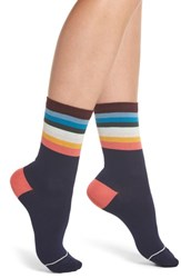 Paul Smith Cindy Artist Stripe Ankle Socks Navy