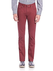 Saks Fifth Avenue Sulfur Dyed Pima Cotton Pants Red