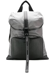 Ermenegildo Zegna Technical Fabric Backpack Grey