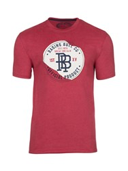 Raging Bull Men's Big And Tall Monogram Applique Tee Red