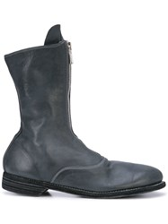 Guidi Zipped Mid Calf Boots Grey