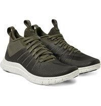 Nike Free Hypervenom 2 Fs Coated Mesh Sneakers Army Green