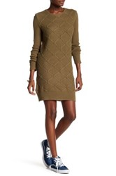 Volcom Chained Down Cable Sweater Dress Green