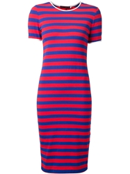 Harvey Faircloth Striped Fitted Dress