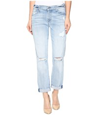 7 For All Mankind Josefina W Destroy In Bright Bristol 2 Bright Bristol 2 Women's Jeans Blue